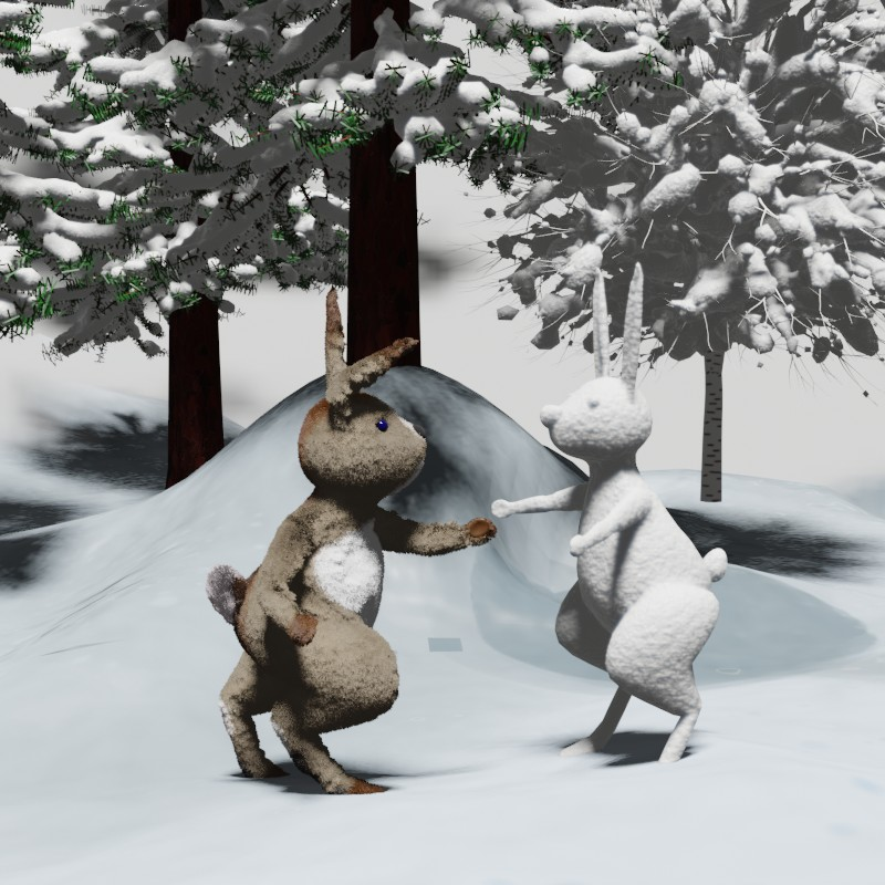 Заяц-снеговик. Сказка на ночь