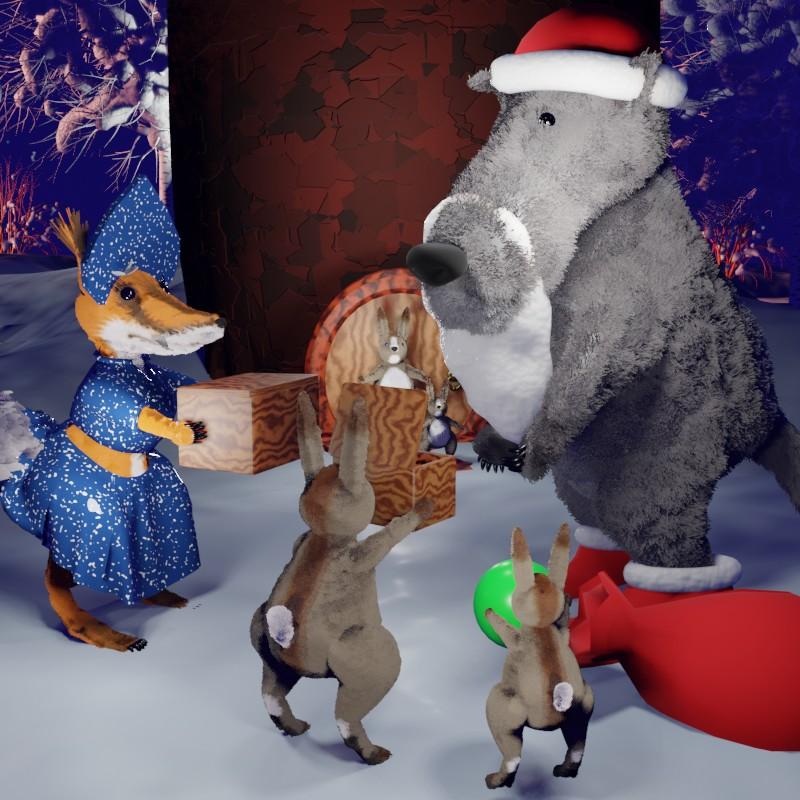 Волк-мороз. Новогодняя сказка на ночь