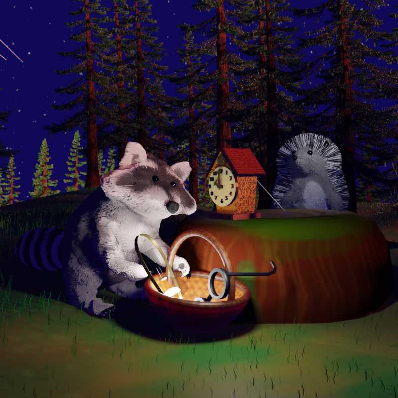 Сказка на ночь - волшебный пень