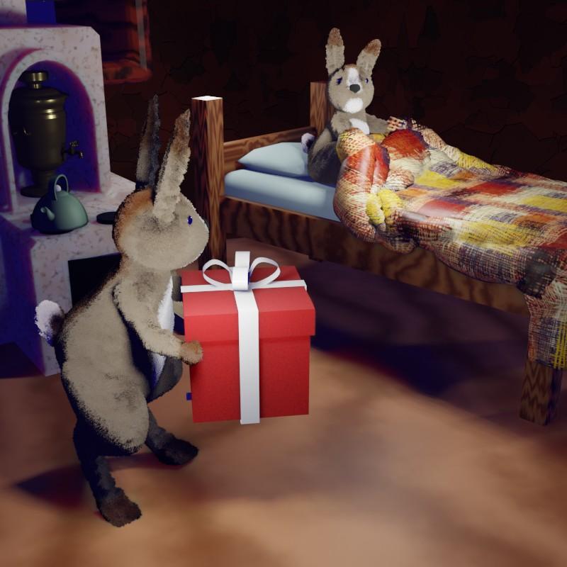 День рожэдения. Сказка про зайцев